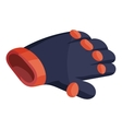 Glove for biker icon isometric style vector image