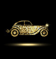 golden car icon vector image
