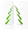 Green cutout paper Christmas tree vector image vector image