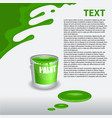 green paint dripping on the wall editable template vector image vector image