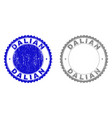 grunge dalian textured stamp seals vector image vector image