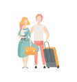 happy family travelling on vacation father vector image vector image