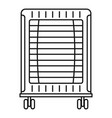 home oil radiator icon outline style vector image vector image
