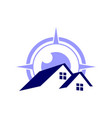 home residence compass abstract logo icon vector image