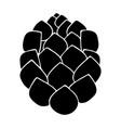hop the black color icon vector image vector image