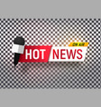 isolated heading hot news template title bar vector image