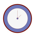 line color circle wall clock time object vector image