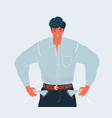 man with empty pockets vector image vector image