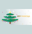 merry christmas happy new year christmas tree vector image