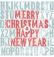 merry christmas letterpress concept vector image vector image