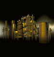 oil and gas refinery petrochemical factory at vector image
