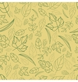 pattern of autumn leaves of different vector image