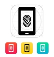 Phone fingerprint icon vector image vector image