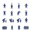 pictograph doctors and persons icon set line style vector image vector image