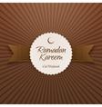 Ramadan Kareem Eid Mubarak realistic Label vector image