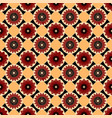 red black and yellow seamless abstract floral vector image vector image