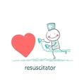 resuscitator hurry to the heart is sick vector image vector image