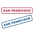 San Francisco Rubber Stamps vector image vector image