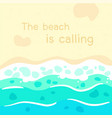 sand and blue sea wave background vector image