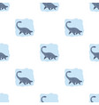 sea dinosaur icon in cartoon style isolated on vector image vector image