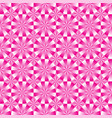 seamless geometrical pink and white pattern vector image vector image