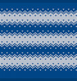 seamless knitted striped vest pattern vector image vector image