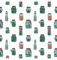 seamless pattern with pickled vegetables backdrop vector image