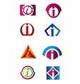 Set of letter i logo Branding Identity Corporate vector image vector image