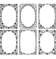 silhouette frames with floral decoration vector image