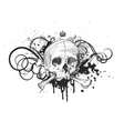 Sketch Skull Emblem vector image vector image