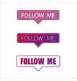 social media follow me frame wallpaper vector image vector image