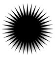 spiky pointed shape with blank space vector image vector image