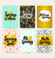 spring time trendy brochures vector image vector image