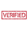 stamp verified text vector image vector image