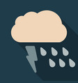 storm icon in trendy flat style isolated on color vector image