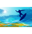 Surfer with waves vector | Price: 1 Credit (USD $1)