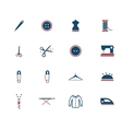 Tailoring simply icons vector image vector image