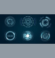 technological hud elements futuristic vector image vector image