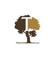 tree letter t vector image vector image