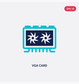 two color vga card icon from cryptocurrency vector image vector image