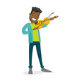young african-american man playing violin vector image vector image