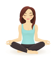 Young woman practicing yoga in lotus pose vector image vector image