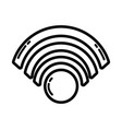 line wifi symbol to connection in the digital web vector image