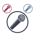 Microphone icon isolated 3 versions set vector image
