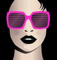 Glamor girl wear sunglasses Celebrity vector image
