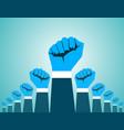 revolution hand vector image