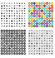 100 digital marketing icons set variant vector image vector image
