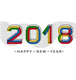 2018 happy new year memphis style numbers vector image vector image