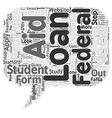 Apply for a Student Loan text background wordcloud vector image vector image