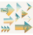 Arrow set Pointer on voyages and on rest vector image vector image